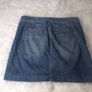 Ann Taylor loft light denim mini skirt
